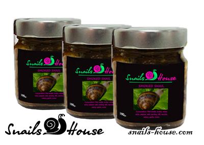 smoked garden snail