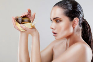 Snails are used to treat and improve skin